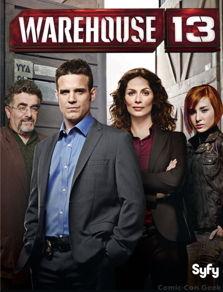 warehouse-13-syfy-cast-photo-eddie-mcclintock-joanne-kelly-saul-rubinek-allison-scagliotti
