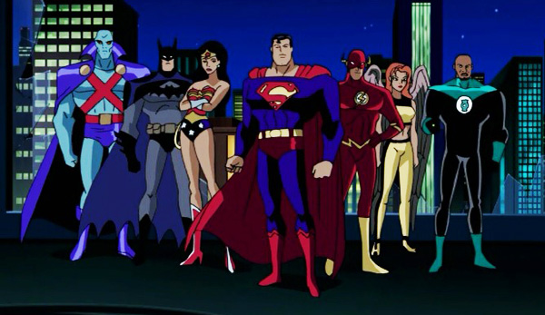 justice-league-unlimited-season-2-11-panic-in-the-sky-original-team-martian-manhunter-batman-wonder-woman-superman-flash-hawkgirl-green-